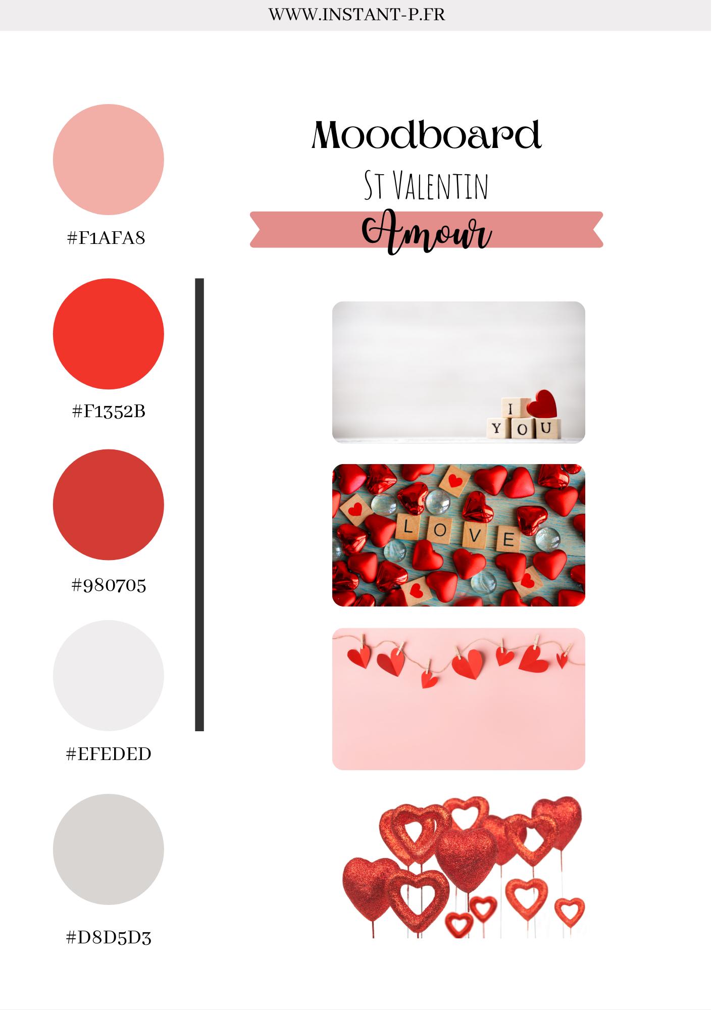Saint-Valentin : moodboard et inspiration